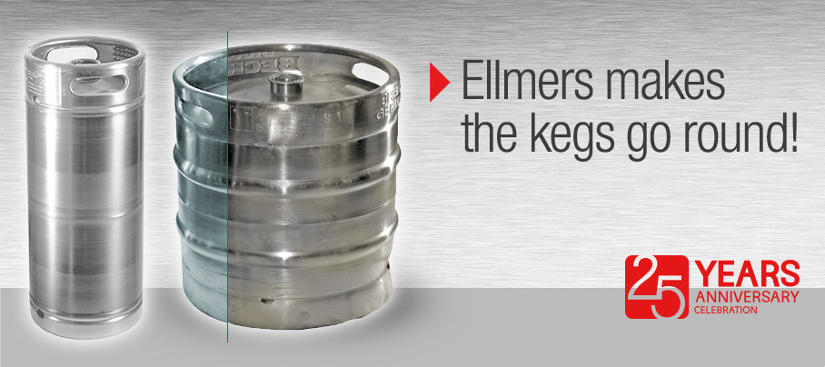 Ellmers makes the Keg go round. International Mobile Keg Repair Service.